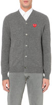 Comme Des Garcons Play Play Heart Logo Knitted Cardigan