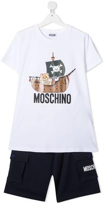 MOSCHINO BAMBINO TEEN teddy bear-print tracksuit set