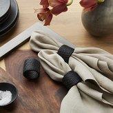 Crate & Barrel Artesia Black Napkin Ring