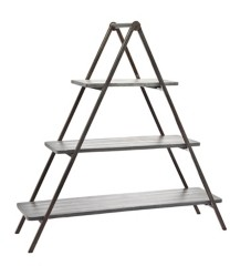 Godinger Grey Wash Wood & Metal Three Tier Server