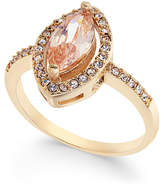 Charter Club Gold-Tone Pavé & Pink Stone Ring, Created for Macy's