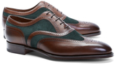 Brooks Brothers Edward Green Malvern III Suede and Leather Wingtips