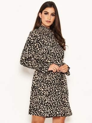 AX Paris Petite Animal Print High Neck Dress