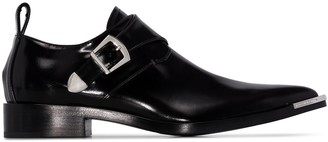 Paco Rabanne flat buckled Derby shoes