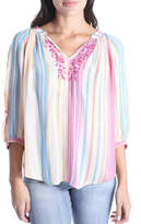 KUT from the Kloth Embroidered Peasant Blouse