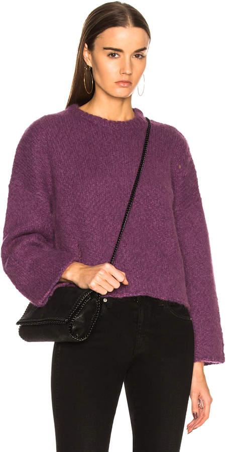 Raquel Allegra Boxy Crew Alpaca Sweater