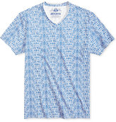 American Rag Men's Textured Geo-Print V-Neck T-Shirt, Only at Macy's