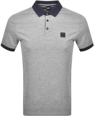 Boss Casual BOSS PJeans Short Sleeved Polo T Shirt Grey