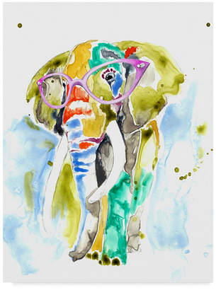 "Jennifer Goldberger Smarty Pants Elephant Canvas Art - 15"" x 20"""