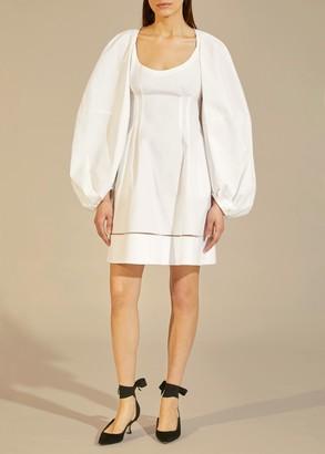 KHAITE The Madison Dress in White