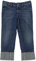 Gucci Washed Cotton Denim Jeans W/ Web Detail