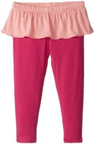 Kickee Pants Skirted Leggings (Baby) - Rhododendron With Blush - 3-6 Months