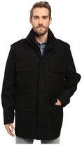 Andrew Marc Litchfield Pressed Wool Field Jacket w/ Inset Knit Bib