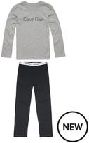 Calvin Klein Boys Logo Long Sleeve Pyjama