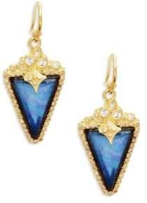 Armenta Two-Tone Gemstone Triangle Drop Earrings