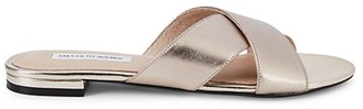 Saks Fifth Avenue Tortuga Metallic Leather Sandals