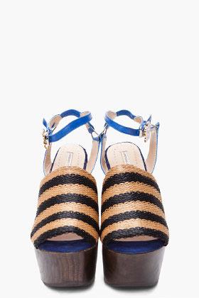 Opening Ceremony Rafia Striped Sandal