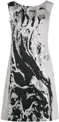 Alberta Ferretti Metallic Sheen Dress