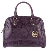 MICHAEL Michael Kors Embossed Leather Satchel