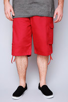 Yours Clothing NOIZ Red Cotton Cargo Shorts With Pockets