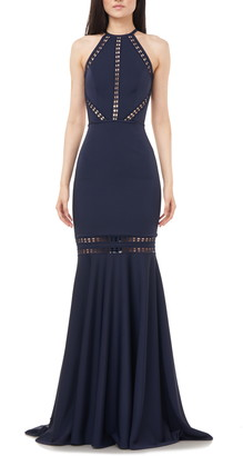 Theia Love by Halter Neck Open Back Mermaid Gown