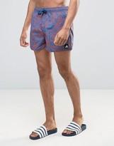 adidas 3S Printed Swim Shorts In Short Length BJ8877