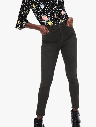 Oasis Lily High Rise Skinny Jeans, Dark Grey
