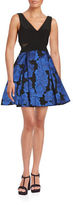 Xscape Evenings Floral Fit and Flare Dress