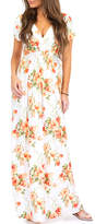 Off-White California Trading Group Women's Maxi Dresses OffWhiteEX Floral Surplice Maxi Dress - Women
