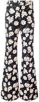 Rochas floral print pants - women - Silk/Cotton - 40