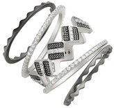 Freida Rothman 'Contemporary Deco' Geo Stackable Rings (Set of 5)