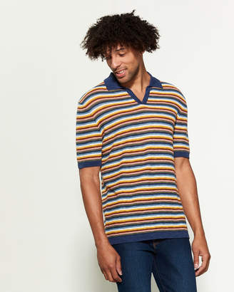 Altea Stripe Short Sleeve Knit Polo