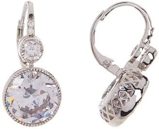 Cz By Kenneth Jay Lane Round CZ Tsarina Leverback Earrings