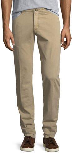 Jacob Cohen Flat-Front Stretch Chino Pants