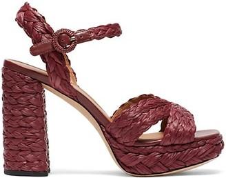 Kate Spade Disco Raffia Platform Sandals