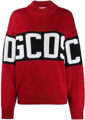 GCDS Oversized Intarsia Logo Knit Jumper