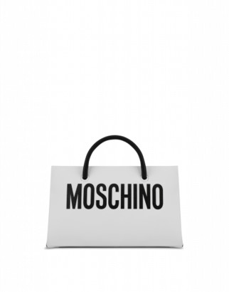 Moschino Evening Bag With Logo Print Woman White Size U It - (one Size Us)