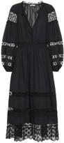 Ulla Johnson Ophelia cotton-poplin midi dress