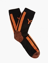 Y-3 Black Cotton Logo Socks
