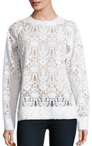 DKNY Solid Lace Top