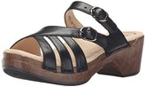 Dansko Women's Shelby Black Full Grain Wedge Sandal