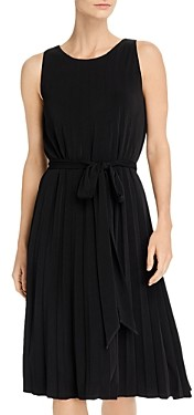 T Tahari Sleeveless Pleated Dress