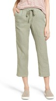 Petite Women's Caslon Linen Crop Pants
