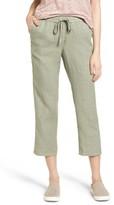 Women's Caslon Linen Crop Pants