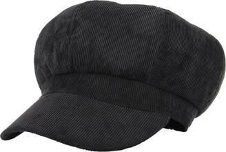 La Vogue Women Vintage Baker Boy Cap Peaked Beret Hat Flat Cap Black