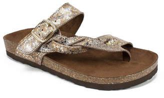 White Mountain Crawford Flat Sandals Women Shoes