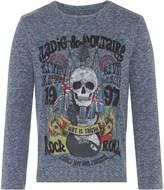 Zadig & Voltaire Boys Skull Print T-Shirt