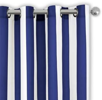 """Aiden Stripe Indoor/Outdoor Curtain Panel, 50"""" x 95"""""""