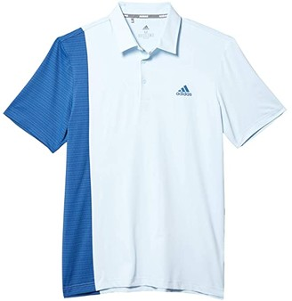 adidas Ultimate365 Blocked Print Polo Shirt (Sky Tint/Trace Royal/Collegiate Navy) Men's Clothing