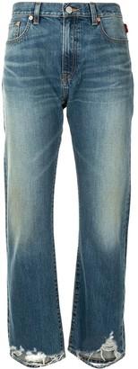 Denimist Straight Distressed-Hem Jeans